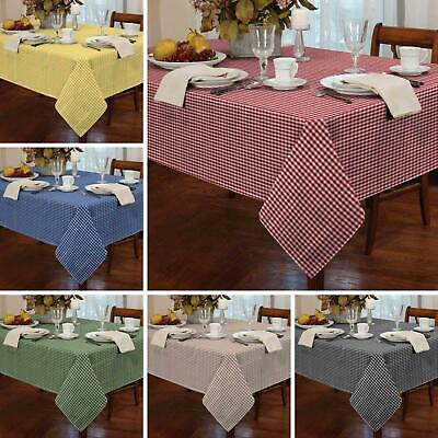 £15.95 • Buy Gingham Check Tablecloths Kitchen Dining Table Covers Rectangle Square Round