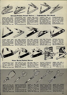 $ CDN19.87 • Buy 1955 PAPER AD Imperial Automatic Opens Lock Pocket Knife Schrade Walden