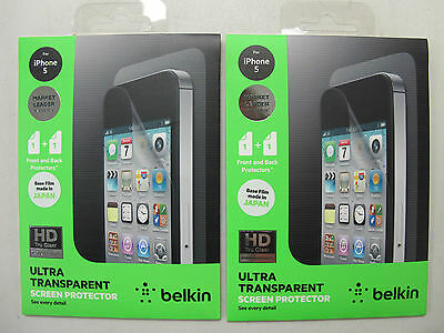 AU7 • Buy 2x QUALITY BELKIN Ultra HD Tru Clear Screen Protector IPhone5/5s/SE F8W185au F01