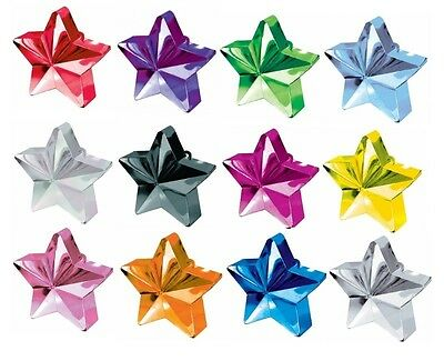 £3.95 • Buy Balloon Star Weights (AMSCAN) Party/Birthday - Choice Of Colours - Helium/170g