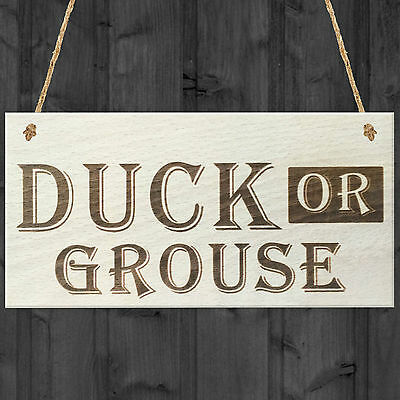£3.99 • Buy Duck Or Grouse Novelty Wooden Hanging Plaque Gift Lo Beams House Pub Bar Sign