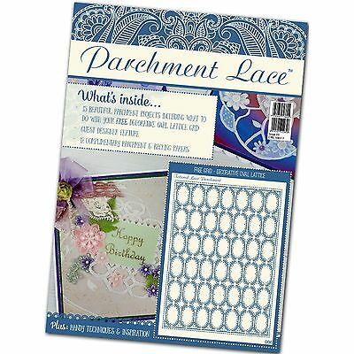 Parchment Lace Magazine Issue 3 Free Decorative Oval Lattice Grid • 6.99£