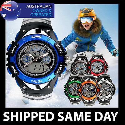 AU19.95 • Buy SKMEI WOMENS DIGITAL WATERPROOF WATCH Ladies Boys Girls Kids Water Resistant 53