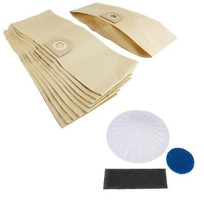 10 X Vacuum Cleaner Dust Bags & Filter For Vax Pets 9131 Wash 'n' Vac 6151T • 8.39£