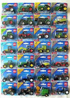 SIKU Blister Carded MINIATURE Farm TRACTORS & Agricultural MACHINERY • 6.99£