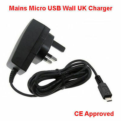 £4.29 • Buy 3 Pin Micro USB UK Mains CE ROHS AC Wall Charger For Android Smart Mobile Phones
