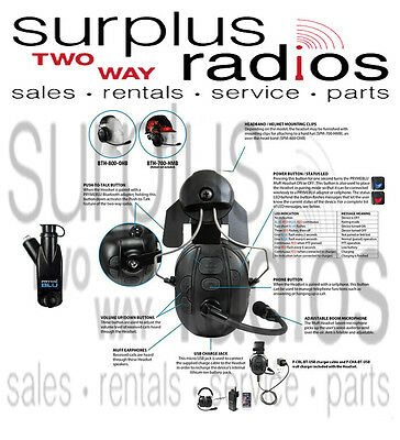 Pryme Bluetooth Construction Hard Hat Headset Motorola XPR7550 XPR6550 XPR6350 • 319.50$