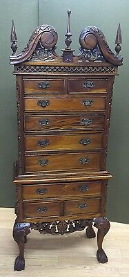 $1950 • Buy Chippendale Style Mahogany Highboy W Ball  Claw Feet Diminutive Note Small Size