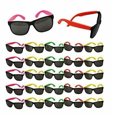 80s Party Neon Prop Sunglasses Pool Party Fillers Beach Party Luau Favors BULK • 9.31£