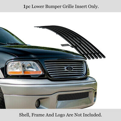 $63.99 • Buy Fits 2001-2003 Ford F-150 Harley Davidson Bumper Stainless Black Grille Insert