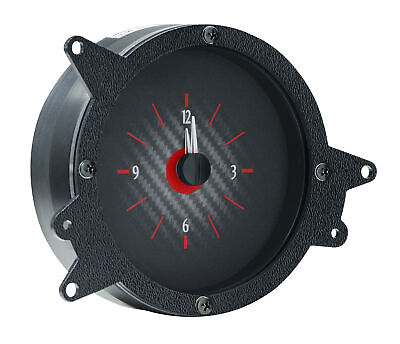 $143.75 • Buy 1969-70 Ford Mustang  Analog Clock, Carbon Fiber Style Face, Red Display
