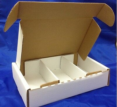 Case Of 20 - 10  X 6.75  X 2  - 3 Compartment Corrugated Cardboard Mailers Boxes • 13.02£