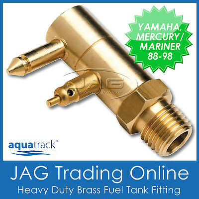 AU12.07 • Buy BRASS FUEL TANK END FITTING For YAMAHA & MERCURY/MARINER-Outboard/Boat/Fuel Line