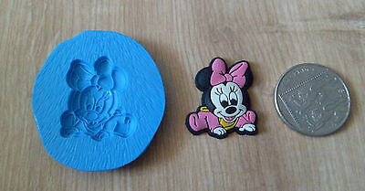 New Baby  Minnie Mouse  Mould Mold Sugarcraft Fimo Polymer Clay • 2.49£