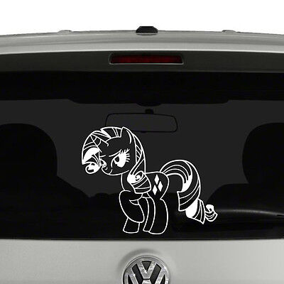 My Little Pony Rarity Outline Vinyl Decal Sticker Car Window • 3.96£