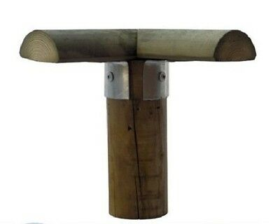 Post Bracket Corner Attachment For Wooden Stake ø100mm For Wooden Fence Palisade • 4.13£