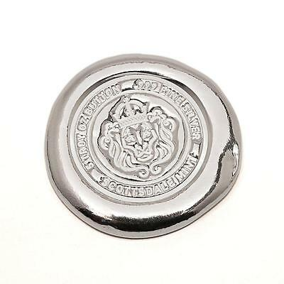$ CDN209.44 • Buy 5 Oz Scottsdale Silver Button .999 Fine Silver Bullion #A264