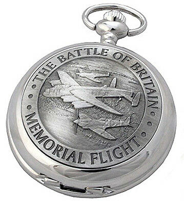 BATTLE OF BRITAIN MECHANICAL POCKET WATCH A E Williams WW2 Remembrance Gift NEW • 55.90£