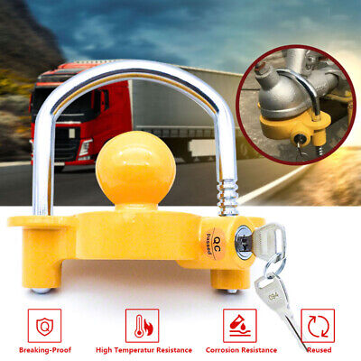AU20.95 • Buy Trailer Parts Coupling Lock Universal Hitch Tow Ball 2 Keys Caravan Antitheft