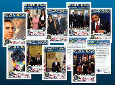 $7.99 • Buy BARACK OBAMA 50-CARD First 100 Days In Office SEALED COMPLETE Premium CARD SET