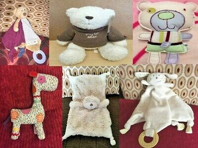 £7.50 • Buy Mamas & Papas Soft Toy Baby Comforter Rattle Various