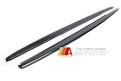 AU469.99 • Buy Carbon Fibre P Style Side Skirt Extension 2P Fits BMW F30 3-Series Sedan M Sport
