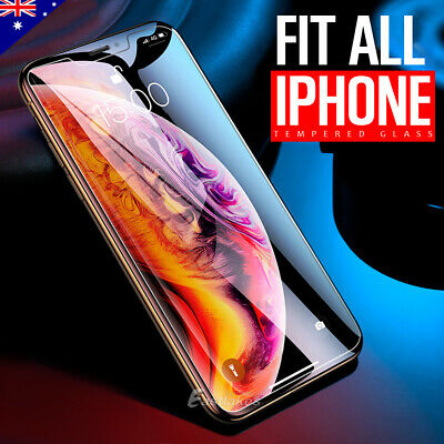 AU3.95 • Buy 2X Tempered Glass Screen Protector For Apple IPhone XS Max XR 8 7 Plus 6