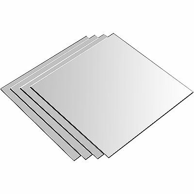 Mirror Tiles Adhesive Wall Mounted Bathroom Kitchen Bedroom Self Stick On 15cm • 5.99£