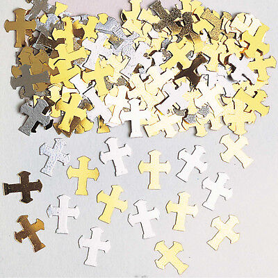 £1.59 • Buy Gold Silver Cross Holy Communion Christening Table Confetti Decorations Boy Girl