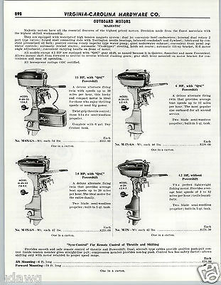 $14.99 • Buy 1956 PAPER AD Majestic Outboard Motor Motors 15 6 7.8 4.2 HP Sync Control