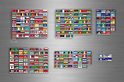 £15.27 • Buy Set 252x Sticker Flag Scrapbooking Country Collection Stamp Coins Small World R1