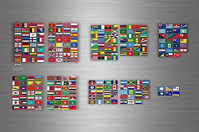 £14.54 • Buy Set 252x Sticker Flag Scrapbooking Country Collection Stamp Coins Small World R2