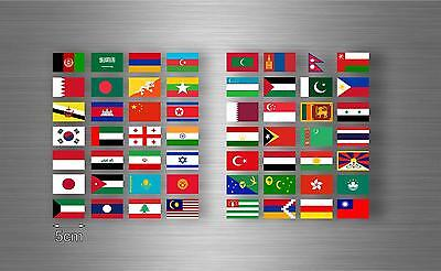 £3.89 • Buy Set 56x Sticker Asia Flag Scrapbooking Country Collection Stamp National 5cm A