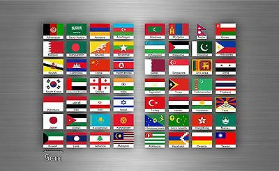 £4.15 • Buy Set 56x Sticker Asia Flag Scrapbooking Country Collection Stamp National 5cm