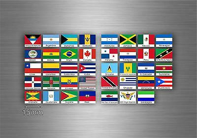 £4.15 • Buy Set 39x Sticker America South North Flag Scrapbooking Country Collection 5cm R3