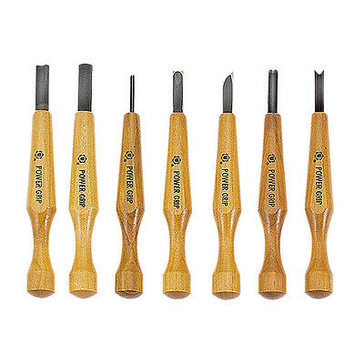 Japanese Power Grip Carving Tools 7pc Set Japanese Woodcarving Set • 48.18£