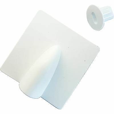 White Brick Buster & 8mm Bush Cable Hole Cover Kit - Outdoor Twin/Shotgun Tidy  • 3.99£
