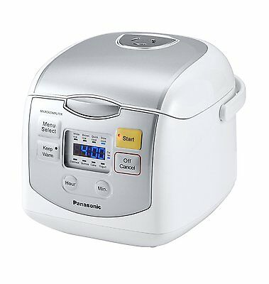 £223.63 • Buy PANASONIC 4-Cup Uncooked Microcomputer Controlled Rice Cooker SR-ZC075W Silver