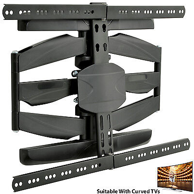 """32""""-65"""" Full Motion Curved/Flat TV Wall Bracket-Cantilever Tilting Screen Mount • 89.99£"""