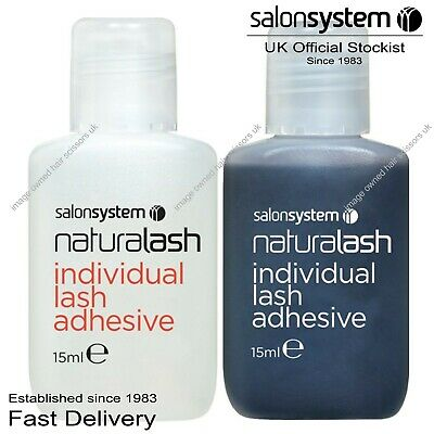 £4.95 • Buy Salon System Semi-Permanent Individual Eyelash Adhesive Clear Or Black Glue 15ml