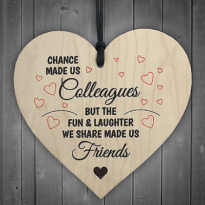 £3.99 • Buy Colleagues Fun And Laughter Novelty Wooden Hanging Heart Leaving Gift Plaque