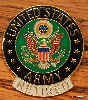 $2.99 • Buy US Army Seal Retired Metal Pin Military Eagle Logo Lapel Tie Tack Hat Jacket Tac