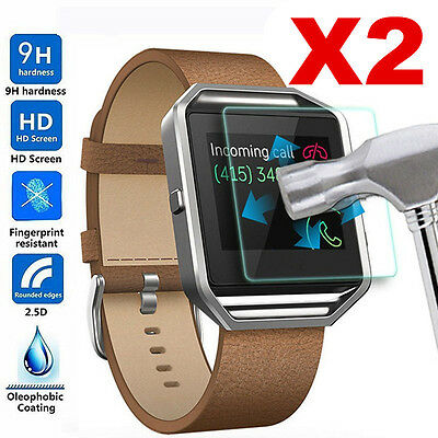 $ CDN1.25 • Buy 2Pc Genuine Premium Tempered Glass Screen Protector For Fitbit Blaze Smart Watch