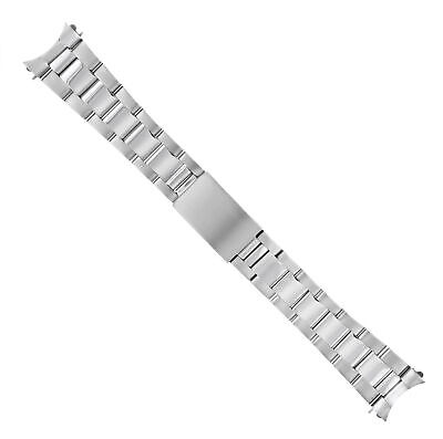 $ CDN56.74 • Buy Oyster Watch Band For Vintage Tapered 34mm Rolex Tudor Date Shiny Matte 19mm