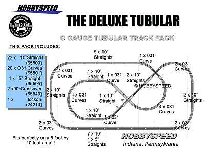 LIONEL O GAUGE DELUXE TRAIN TRACK PACK 3 Rail Set Metal Curve Layout 6-22969 NEW • 299.84$