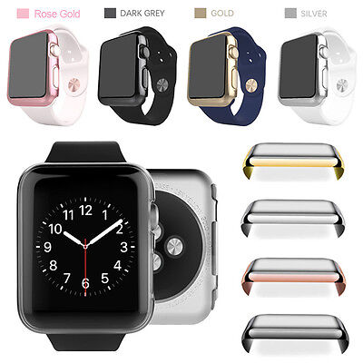 $ CDN8.76 • Buy Fr Apple Watch Series 1/2/3 38/42mm Screen Protector Metal Plated Full Body Case