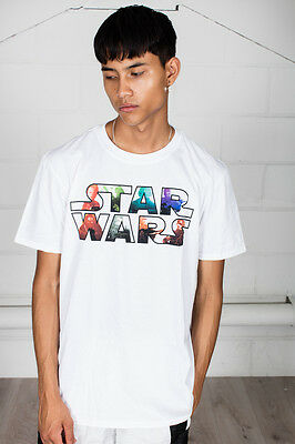 *Sale* Official Star Wars Multicoloured Character Logo Unisex T-Shirt Vader • 5.99£