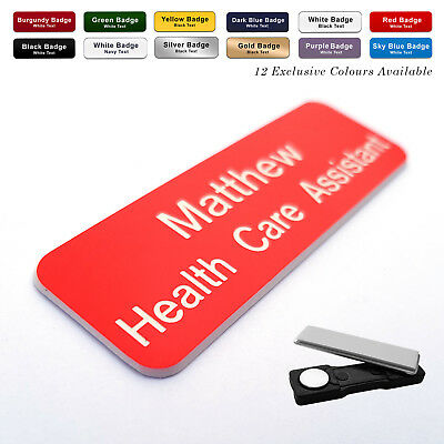 £2.40 • Buy Staff MAGNET ID Name Badges / Personalized Name Badges Shops Pubs Office Work