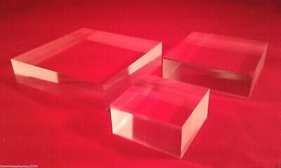 Acrylic Perspex Display Block Retail Jewellery Stand For Window Cabinet Displays • 5.07£