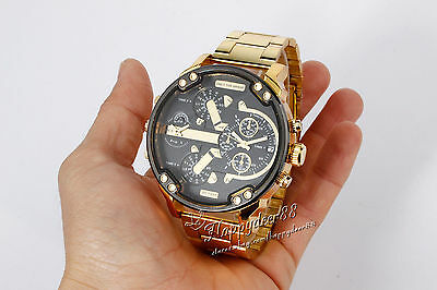 AU39.95 • Buy MENS DRESS WATCH Gold Silver Fashion Military Water Resistant Quartz Analog 93